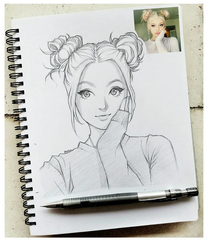 O Ilustrador Indonésio Desenha Pessoas Reais Como Desenhos