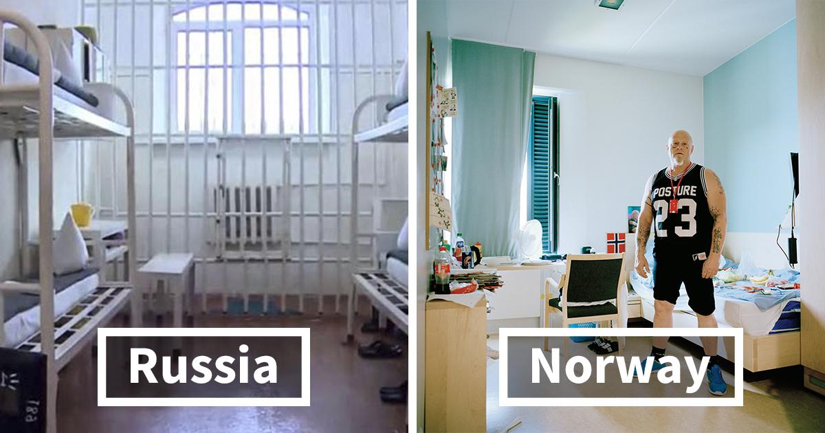 Como as celas de prisão são em diferentes partes do mundo
