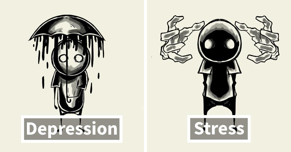 31 ilustrações que retratam as lutas diárias de pessoas com doenças mentais