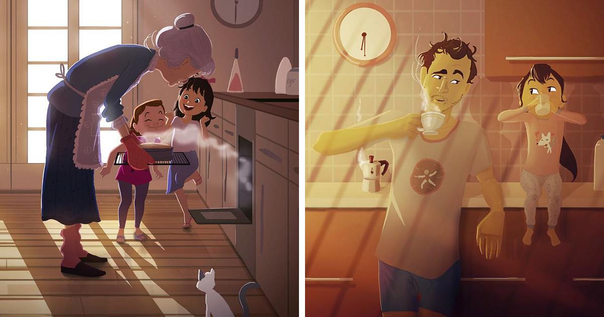 Artista traz de volta a nostalgia da infância com suas adoráveis ilustrações