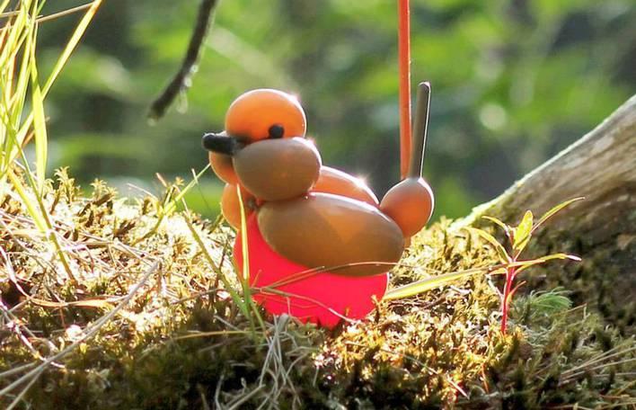 Veja estas esculturas de balão de animais no seu habitat natural