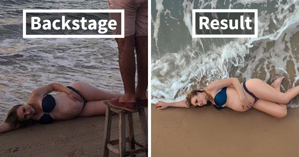 Este fotógrafo continua surpreendendo a internet com os bastidores de suas fotos