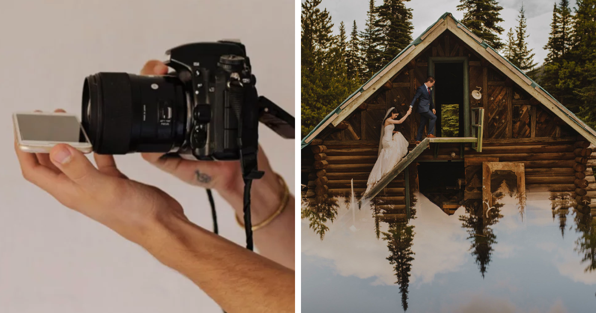 Fotógrafo de casamento compartilha um truque de fotografia ridiculamente simples e os resultados são impressionantes