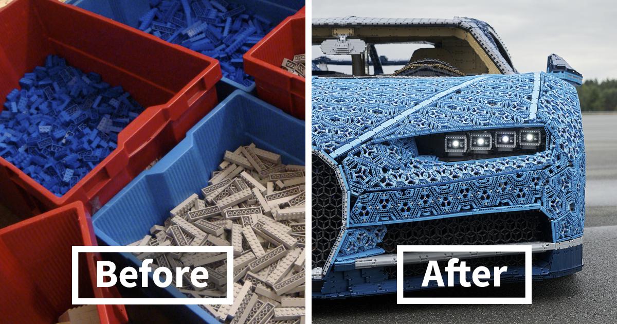 LEGO constrói Bugatti Chiron com mais de 1.000.000 de peças