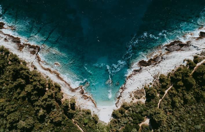 Fotos de tirar o fôlego do Mar Mediterrâneo capturado do céu
