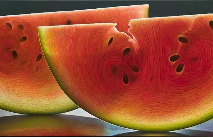 Você precisa ver estes retratos hiperrealistas de frutas cortadas