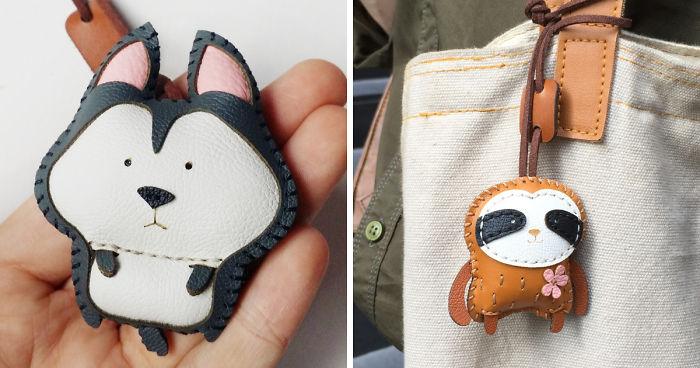 Estes amuletos de couro permitem que você carregue seu animal favorito onde quer que vá
