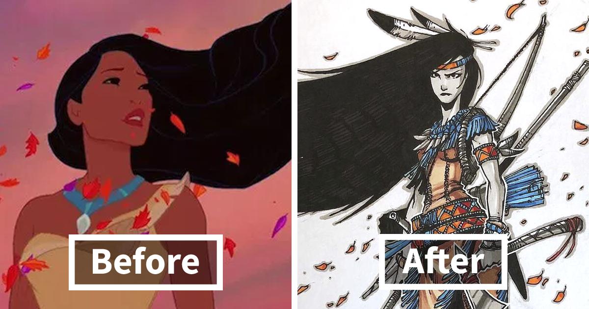Artista redesenha 11 princesas da Disney como guerreiras e elas ficaram fodonas