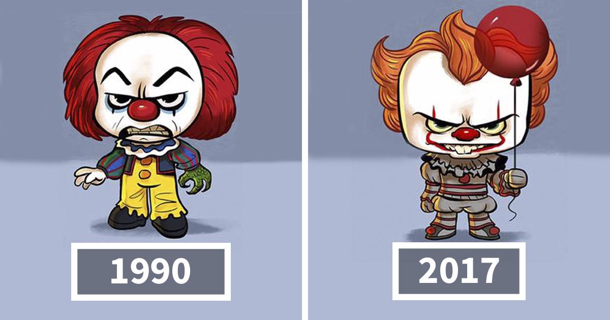 Artista ilustra a evolução dos ícones da cultura pop e o resultado é muito fofo