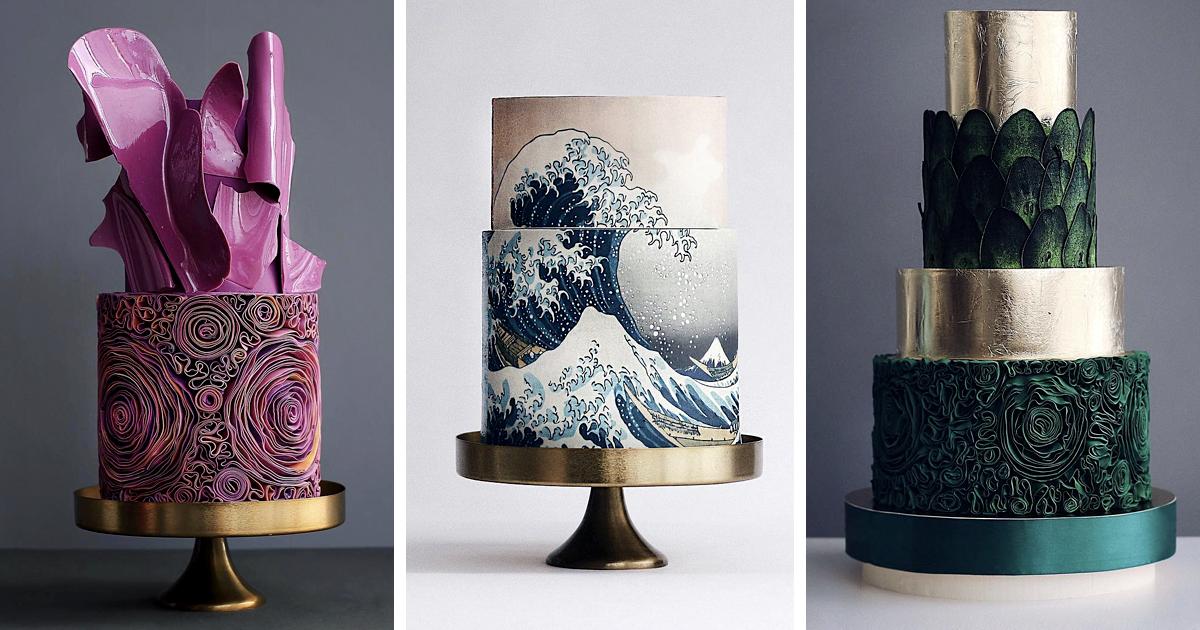 Estes 30 bolos altos e luxuosos parecem ter saído diretamente de um conto de fadas