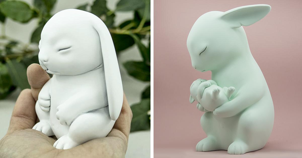 Eu faço esculturas de animais imaginários de resina
