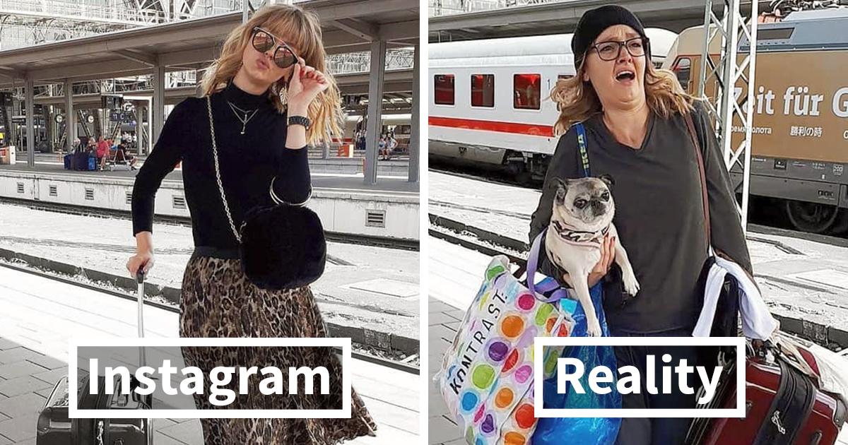 Instagram vs. Realidade: Artista alemã nos diverte com aquelas fotos perfeitas do Instagram