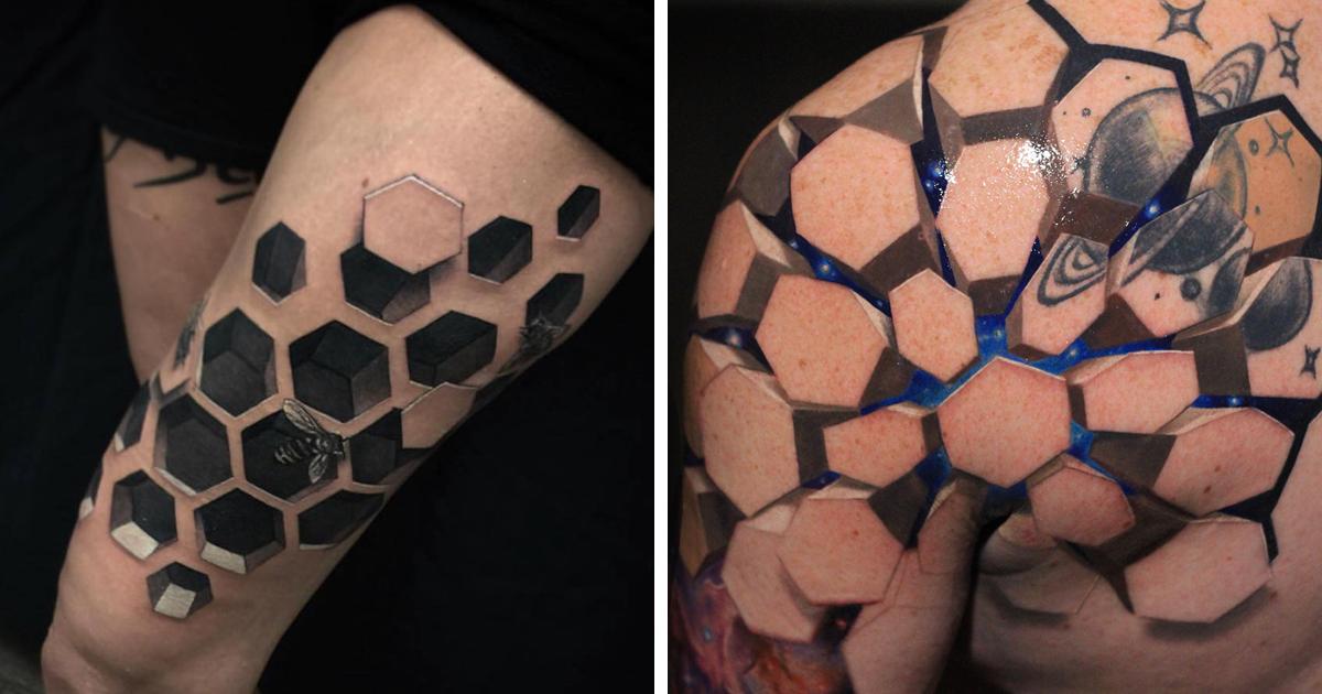 55 incríveis tatuagens em 3D que vão fazer você olhar duas vezes