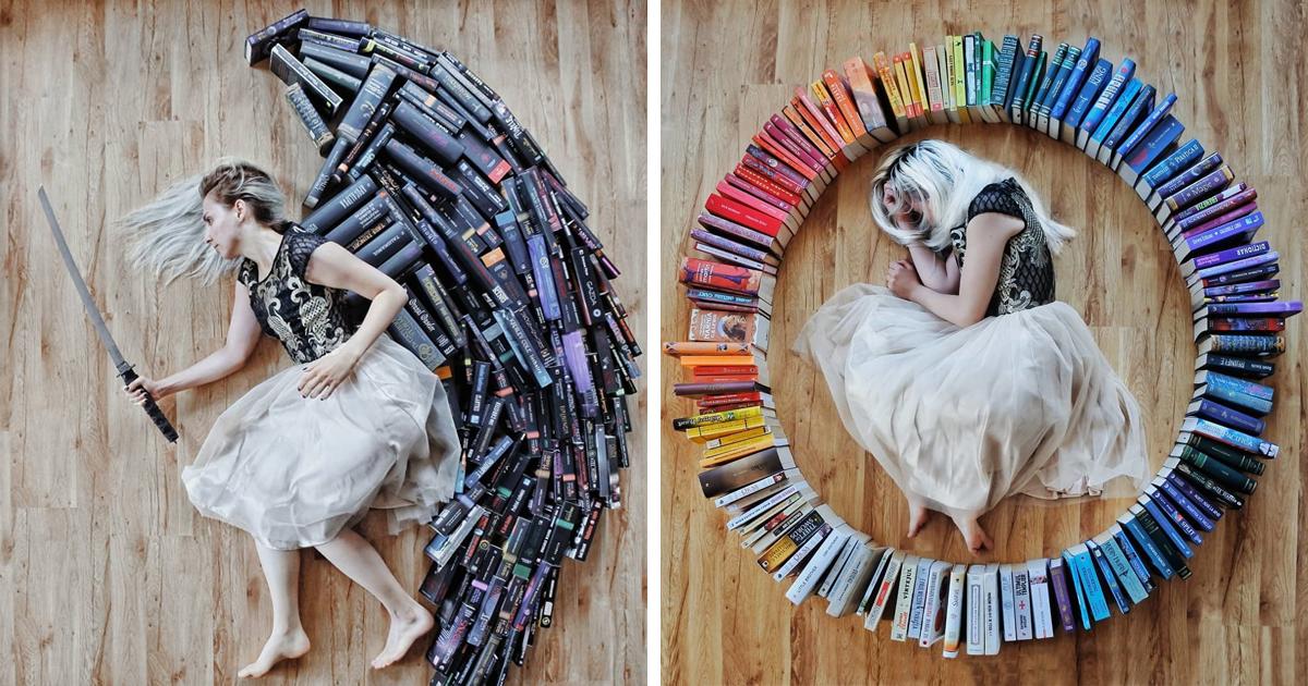 Apaixonada por livros transforma sua biblioteca em arte, e seus 90 mil seguidores do Instagram aprovam