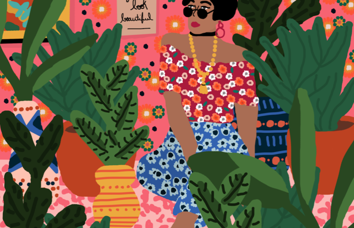 As ilustrações coloridas e alegres desta designer e diretora artística brasileira