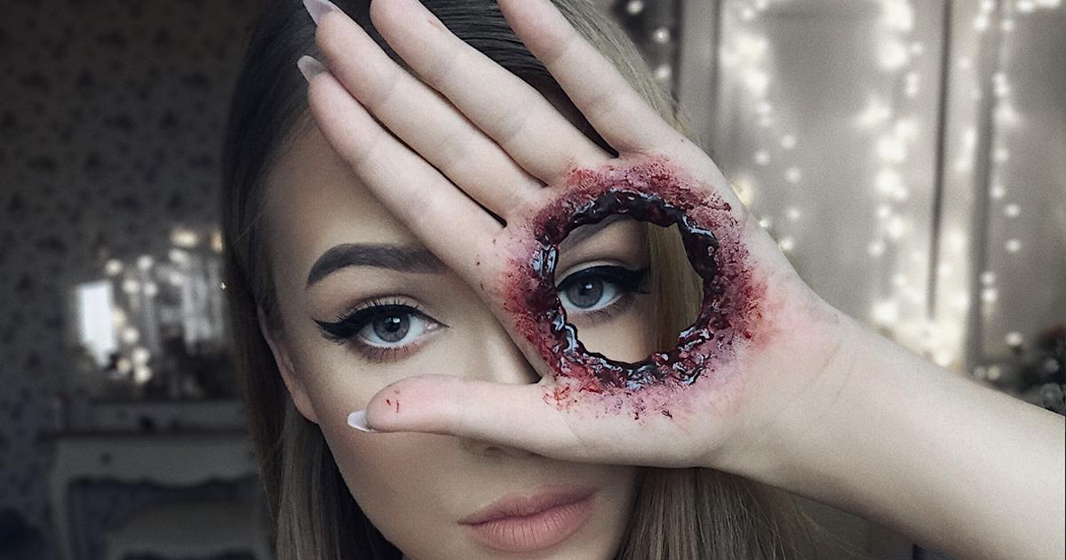 Apenas há um ano ela descobriu que sua verdadeira paixão era a maquiagem, e aqui estão suas melhores maquiagens para o Halloween