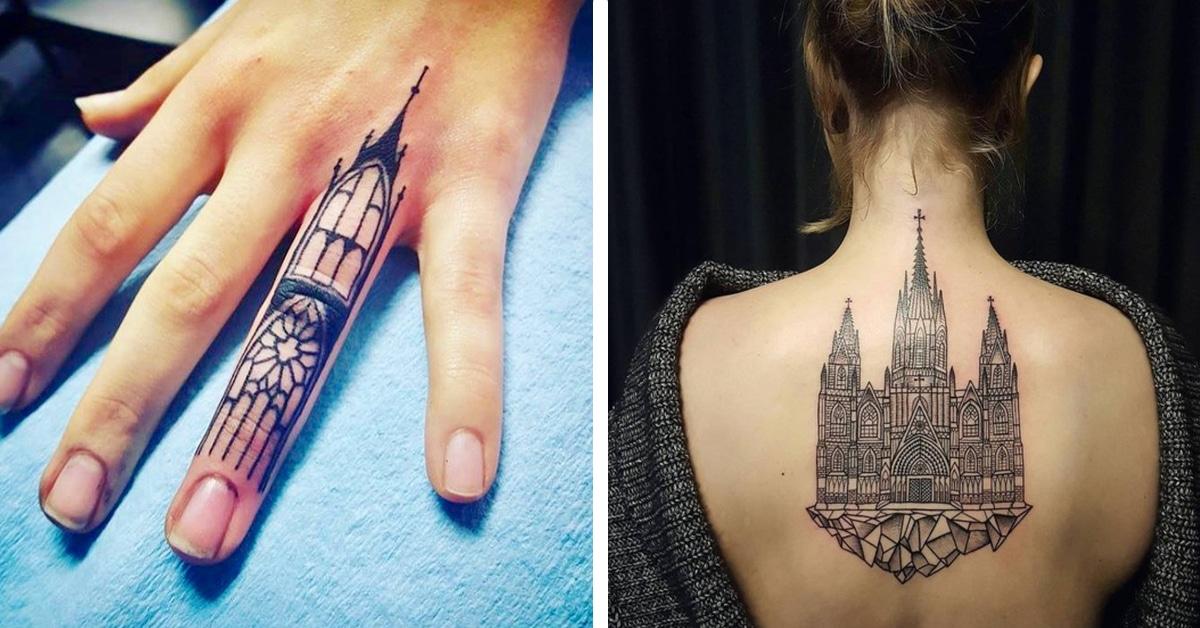 16 tatuagens inspiradas na beleza majestosa da arquitetura