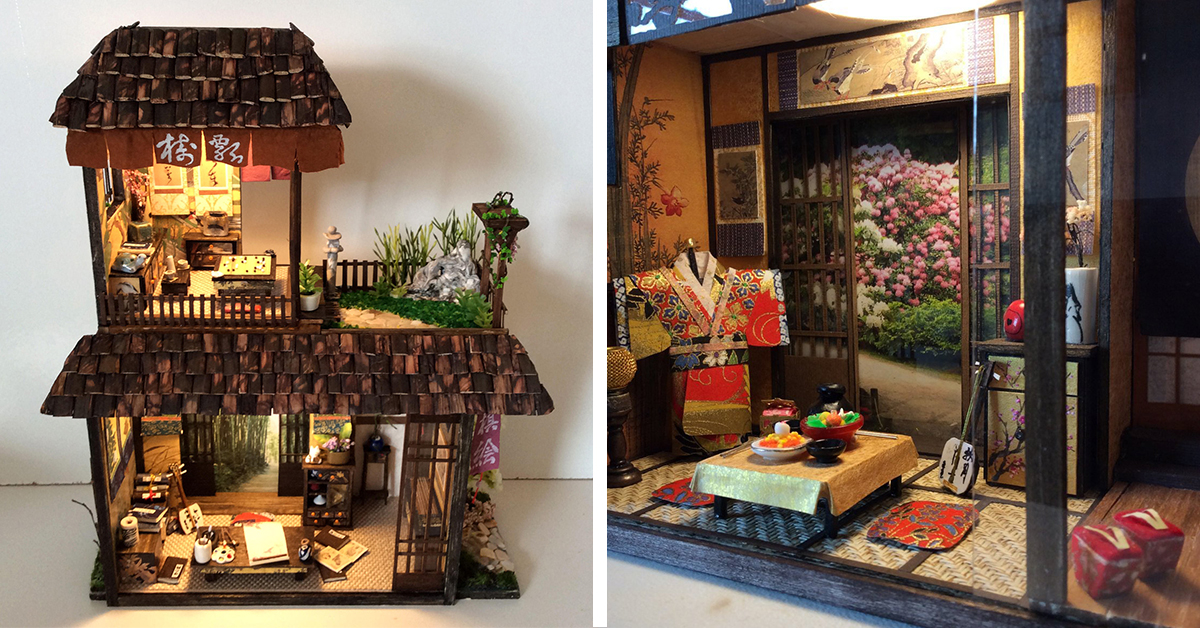 Artista cria réplicas em miniatura cheias de detalhes de casas japonesas tradicionais