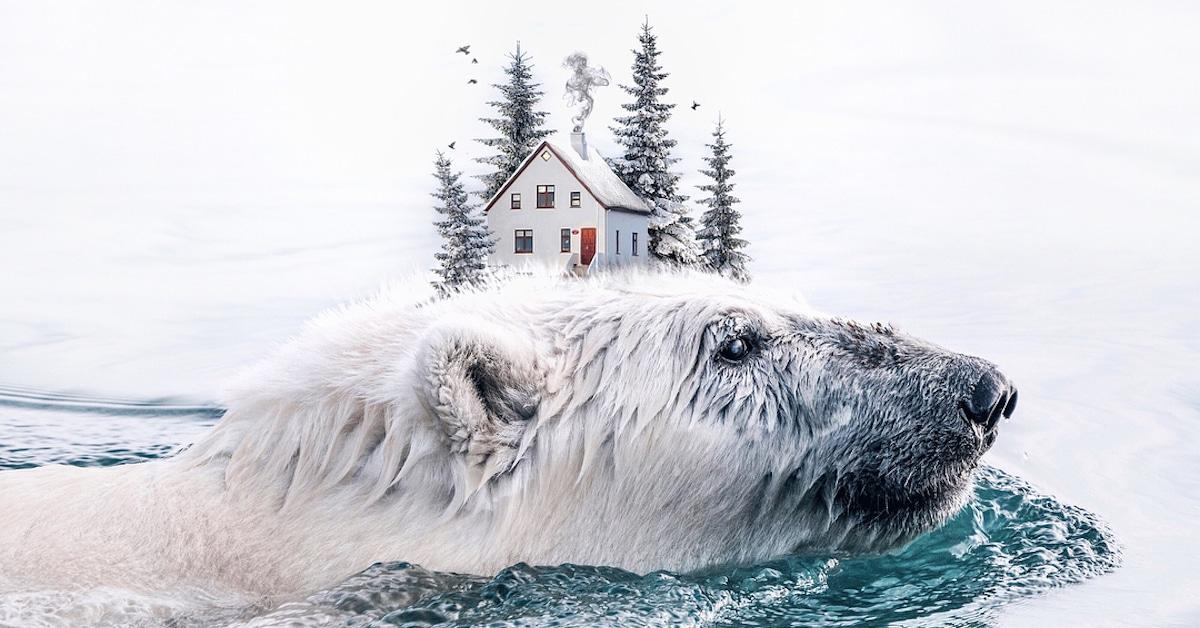 Artista combina perfeitamente elementos inesperados em fotos surreais brilhantes