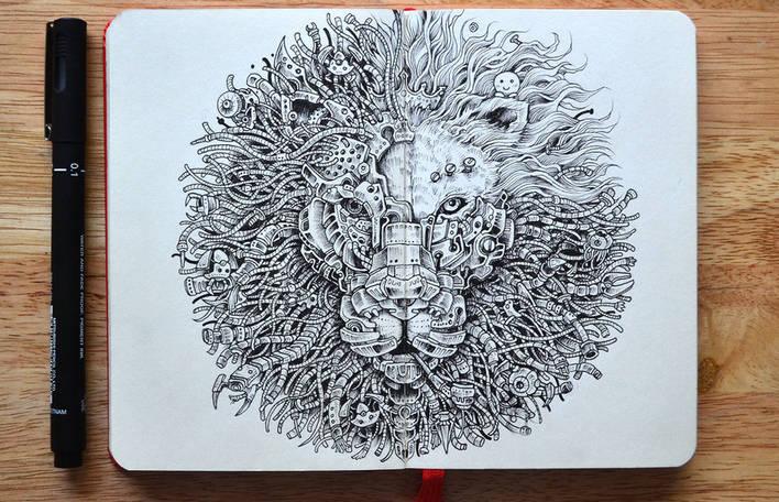 Aprecie os desenhos super detalhados deste artista de apenas 23 anos