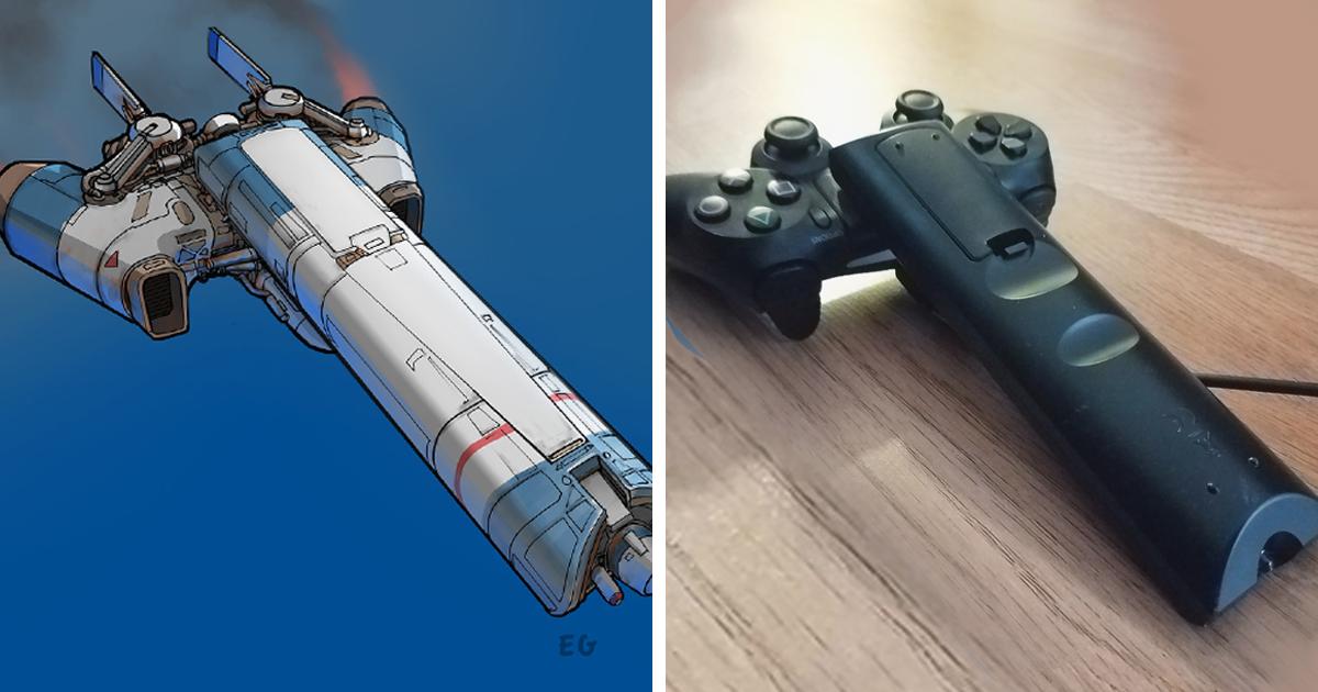 Este artista consegue transformar qualquer item do dia a dia em uma nave espacial bem incrível