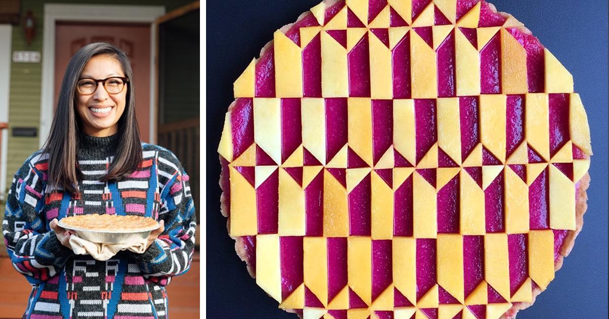 Confeiteira assa tortas com desenhos intricados e artísticos