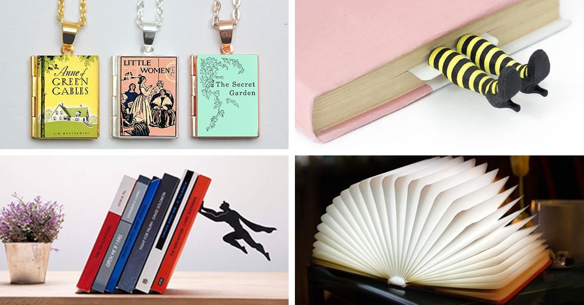 20 ideias de presentes criativos para pessoas que gostam de ler