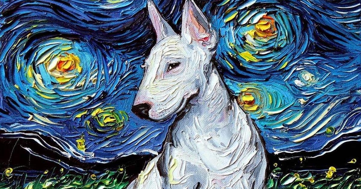 """Uma pintura desta artista foi confundida com uma de Van Gogh, então ela criou uma brilhante série de """"A Noite Estrelada"""""""