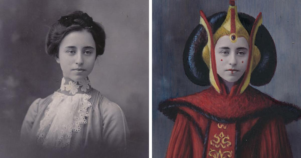 Artista transforma retratos vintage em heróis da cultura pop, e o resultado ficou muito engraçado
