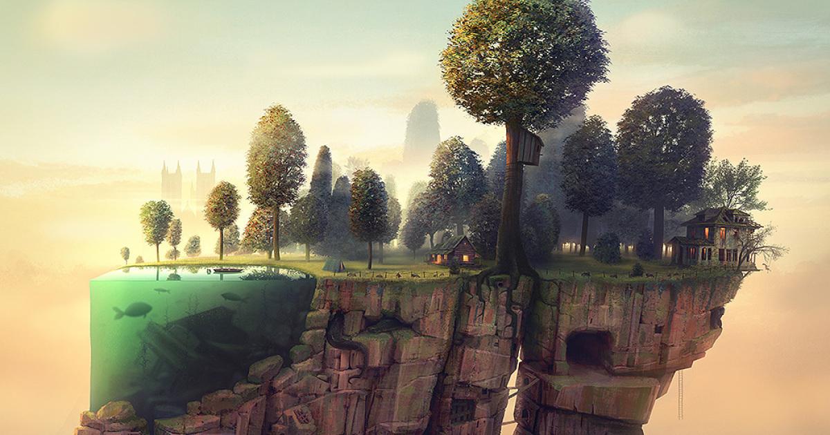 Este artista cria mundos surreais para os quais você vai querer ir