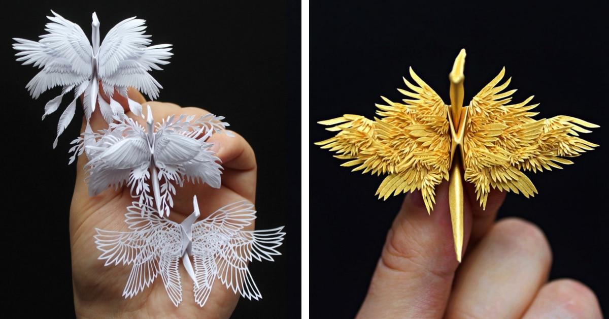 Este artista cria os origamis mais surpreendentes com detalhes de penas