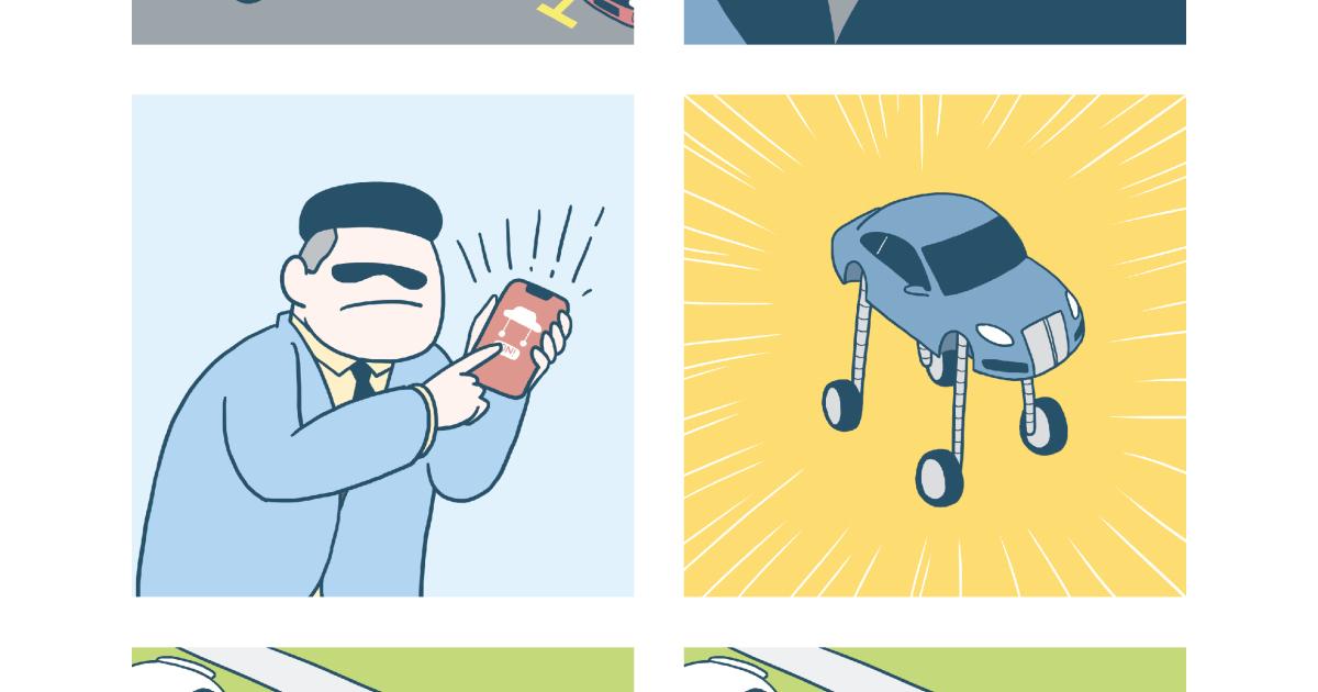 Ilustrações cômicas mostram como um cara rico (e mauzão) lida com problemas