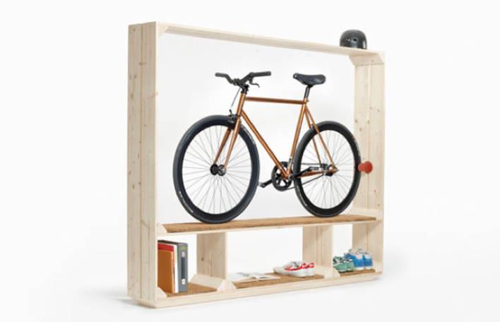 Uma estante que é perfeita para os amantes de bicicleta