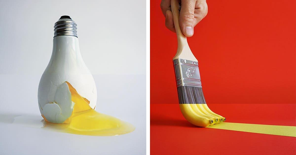 Artista brilhante une objetos totalmente diferentes para criar combinações inesperadamente perfeitas