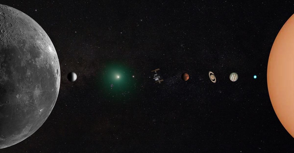 Astrofotógrafo cria foto incrível do sistema solar de seu próprio quintal