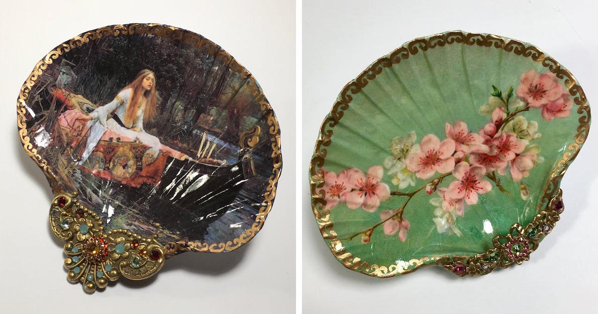 Artista transforma conchas de verdade em joias decorativas que se parecem tesouros antigos
