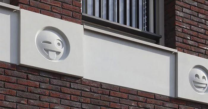 22 emojis acabam virando decoração em um prédio na Holanda