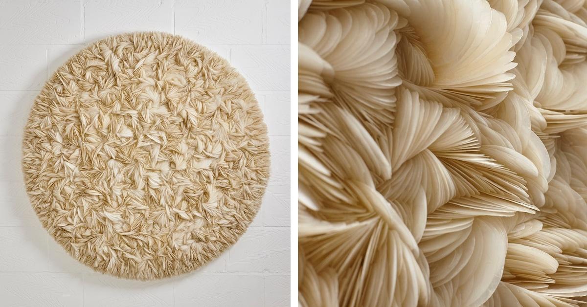 Artista cria esculturas espetaculares formadas por milhares de conchas do mar