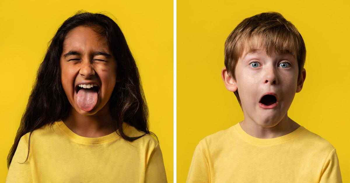 20 crianças foram fotografadas como seu emoji favorito, e os resultados ficaram muito divertidos
