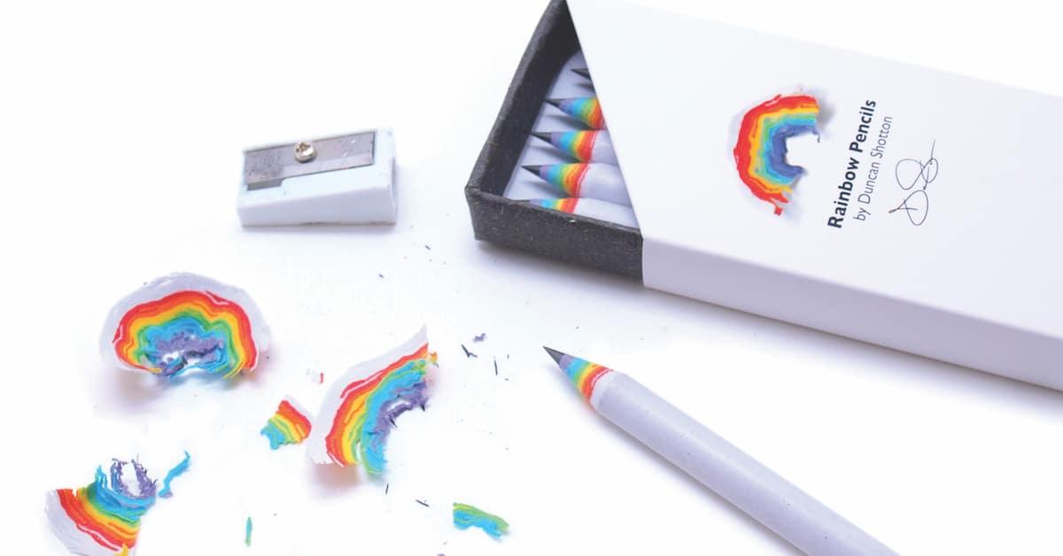 Ilumine seu dia com estes lápis de arco-íris radiantes