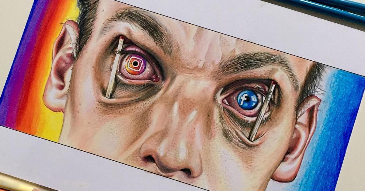 Artista faz ilustrações incríveis que criticam a sociedade moderna e suas tecnologias