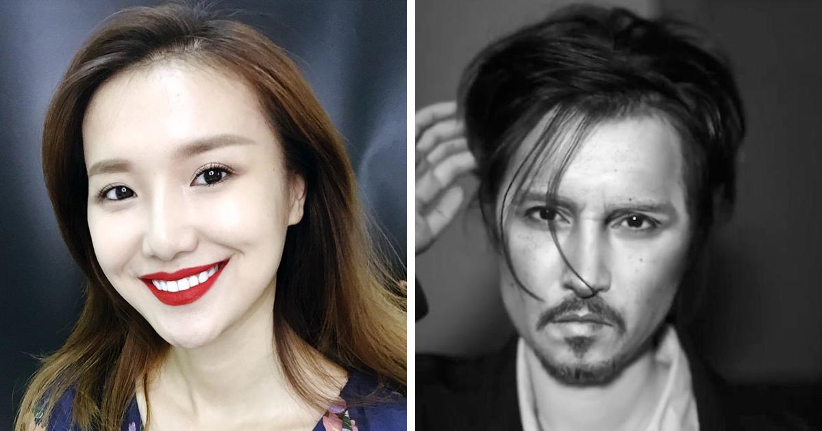 Esta maquiadora chinesa muito talentosa se transforma no Johnny Depp e em outras celebridades