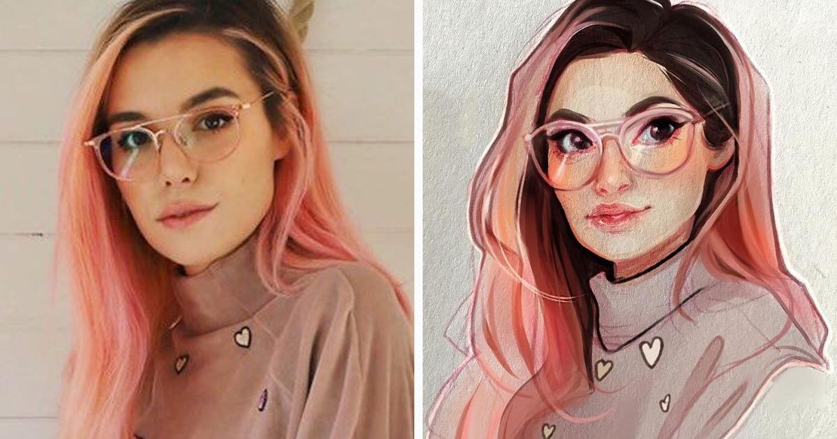 Artista holandesa transforma pessoas em personagens de desenhos animados e seus 1,5 milhões de seguidores adoram