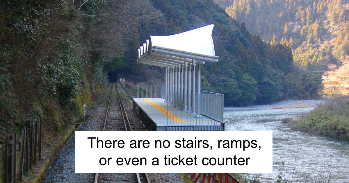 Esta estação de trem no Japão foi construída apenas para seus passageiros admirarem a paisagem