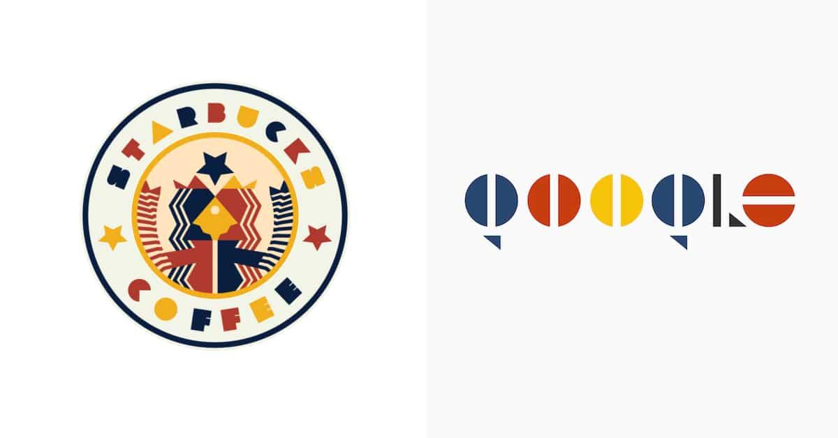 17 logotipos das maiores marcas do mundo redesenhados no estilo Bauhaus
