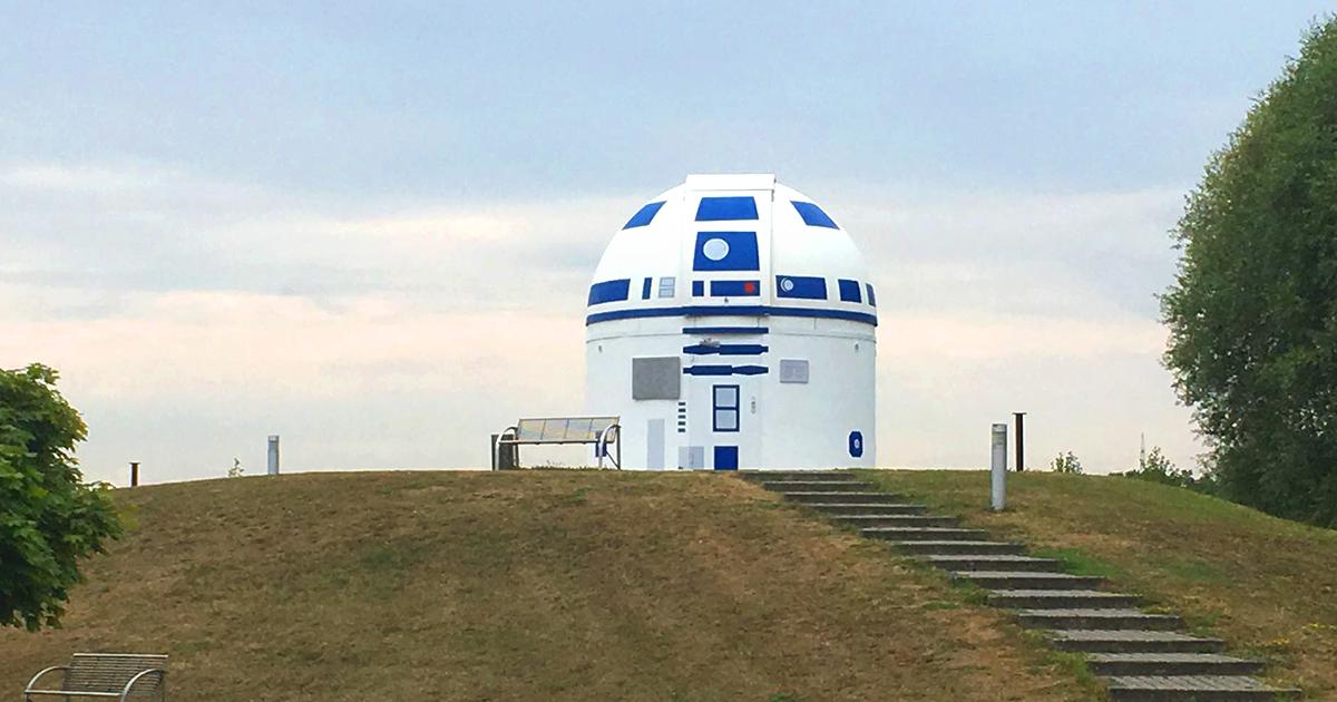 Este professor alemão muito fã de Star Wars redesenhou um observatório como o R2-D2