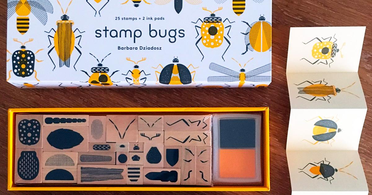 Crie seus próprios carimbos de insetos com este kit DIY