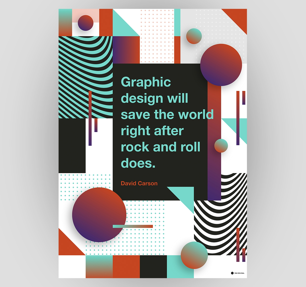 7 pósteres para os amantes do design gráfico