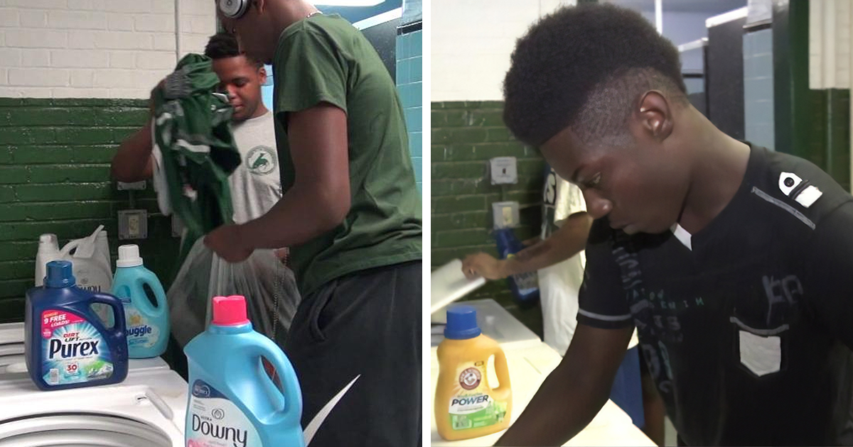 As crianças estavam sofrendo bullying pelas roupas sujas, então este diretor instalou uma lavanderia gratuita e a presença nas aulas aumentou 10%