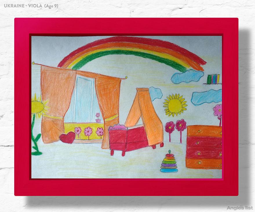 Estas crianças desenharam seus quartos dos sonhos, e profissionais os transformaram em realidade